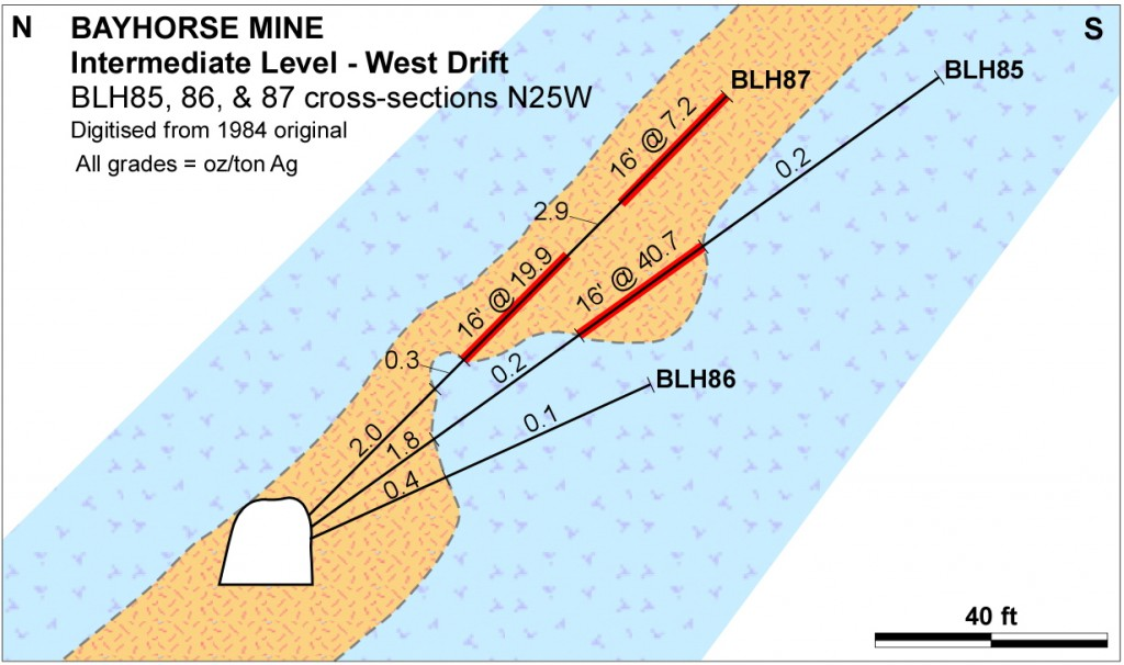 Bayhorse Mine 1984 Drill Sections N-S2