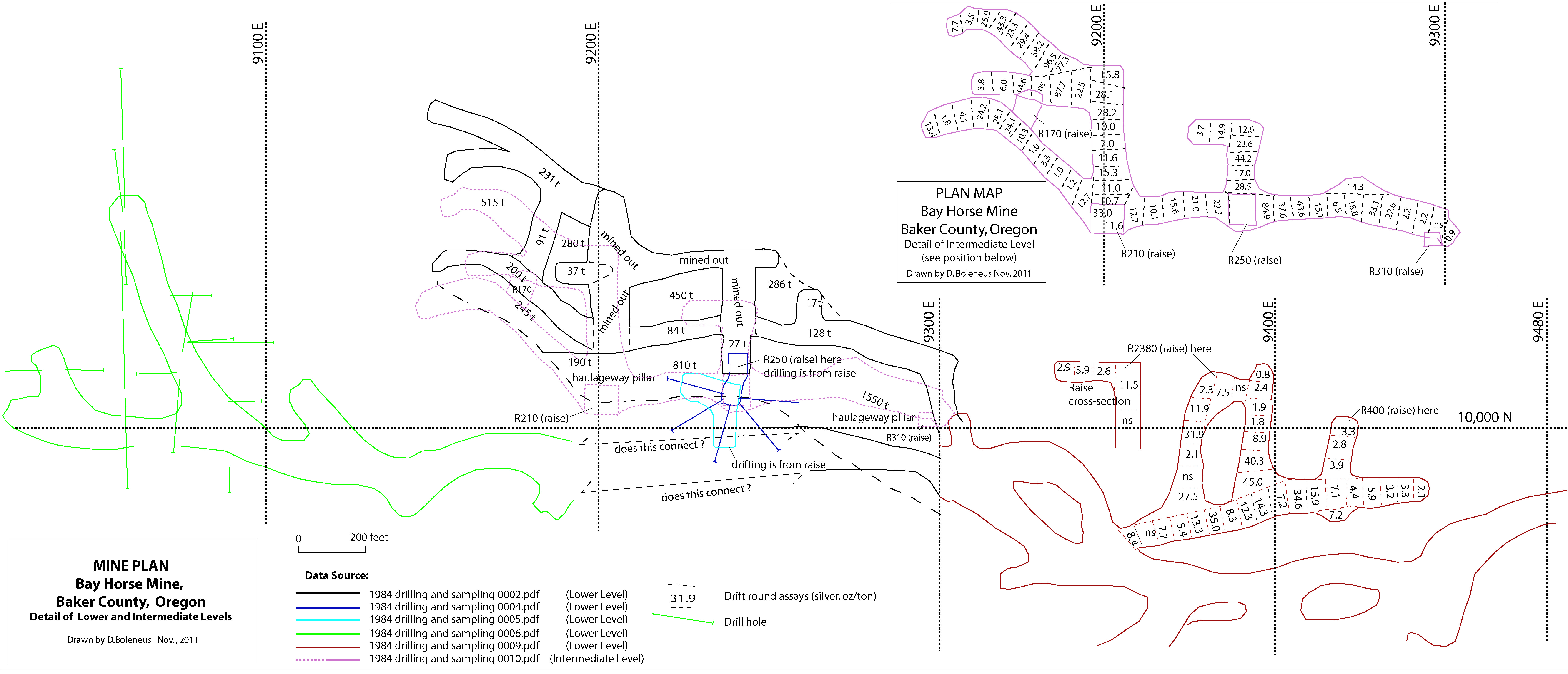 BayhorseDrawing and Assay Map